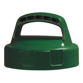 Quick-Identify Lid: Round, Storage, Green, High-Density Polyethylene, 6 in Lid OD, 4 1/4 in Overall Ht