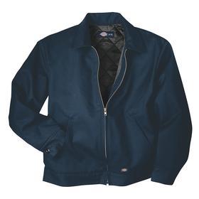 Dickies Eisenhower Jacket: Poly/Cotton, Dark Navy, Zipper, 5XL Size, Men, Machine Wash, Shirt Collar
