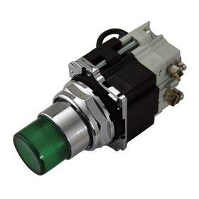 Eaton Pilot Light: 120V AC/DC, 2.03 in Overall Lg, Resistor, Amber, For Incandescent, 10000000 hr Avg Life, Black