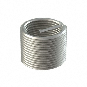"""Free-Running Helical Insert: Imperial, 18-8 Stainless Steel, 1 1/4""""-12 Thread Size, 1.25 in Insert Dia"""
