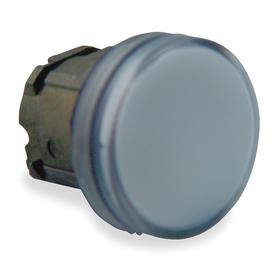 Schneider Electric Pilot Light Head: For Schneider BA9 Light Modules, 1.22 in Overall Lg, Metal, White, Chromium