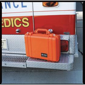 Protective Storage Case: 24 3/8 in Overall Ht, 19 3/8 in Overall Wd, 8 13/16 in Overall Dp, Orange, 18 lb Wt, Plastic