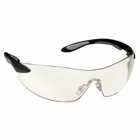 Honeywell Safety Glasses: Gray, Wraparound Frame, Scratch Resistant, Black/Silver, ANSI Z87.1-2010/CSA Z94.3, Plastic