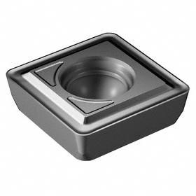 Sandvik Coromant Insert for Indexable-Tip Drill Bit: 08 Seat Size, Peripheral, 0.8 mm Corner Radius, Wiper Insert, 10 PK