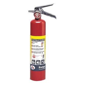 Kidde Rechargeable Fire Extinguisher: Class A, B, & C Fire Class, 1A:10B:C UL Rating, 2.50 lb Capacity, Steel, 3 in Dia