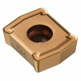 Sandvik Coromant Insert for Indexable-Tip Drill Bit: 02 Seat Size, Central, 0.4 mm Corner Radius, Medium Feed, 10 PK