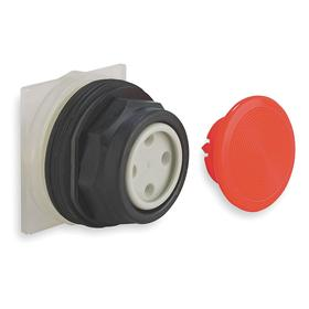 Schneider Electric Emergency Stop Push Button Operator: Mushroom Operator, Non-Illuminated, Momentary, Red, Plastic