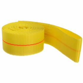 Lasso Tie-Down Strap: 2 in Strap Wd, 9 ft Overall Lg, 3330 lb Max Load Capacity, 3330 lb Assembly Strength, Yellow