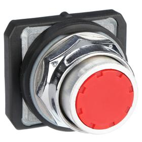 Push Button Operator: Extended Operator, Non-Illuminated, Momentary, Heavy Duty Operator Interface, Chrome, Universal, Plastic