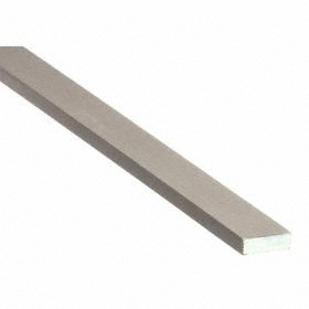 D2 Tool Steel Strip: 1/4 in Thickness, ASTM A-681-07, Precision Ground, +/-0.001 in Thickness Tolerance, 1/2 in Wd