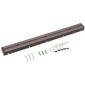 Knife & Utensil Rack: Magnetic Utensil Rack, 13 in Lg, Custom Knife Capacity, Plastic, 1 in Wd, 2 in Ht, Black