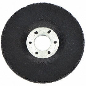 3M Fast Grinding Wheel: 4 in Wheel Dia, 3/8 in Center Hole Dia, 3/8 in Wheel Thickness, Type 27 Type, Ceramic Alumina