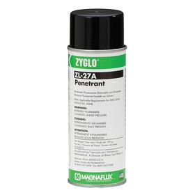 Crack Detection Penetrant for Welds: Aerosol, Level 3 Fluorescent Dye Penetrant, 16 fl oz Container Size, Green