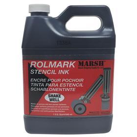 Stencil Roller Ink: For 140R373/391K896, Black, 32 fl oz Container Size