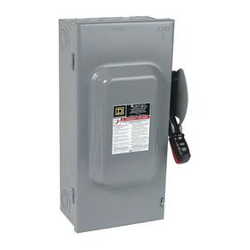 Schneider Electric Heavy Duty Safety Disconnect Switch: Three Phase, 3 Poles, 100 A @ 600V AC Switch Rating, Indoor, Fusable