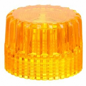 Schneider Electric Push Button Cap: 30 mm Compatible Panel Cutout Dia, Plastic, Amber, Illuminated, Screw On