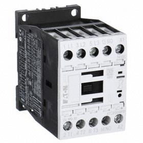Eaton IEC Magnetic Contactor: 3 Poles, Single/Three Phase, 9 A Current Rating, 120V AC Control Volt, Silver Alloy