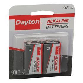 Battery: 9V Battery Size, Alkaline, 550 mAh Capacity, 9 V DC Nominal Volt, 2 PK