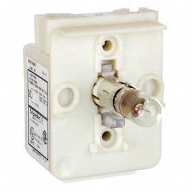 Schneider Electric Pilot Light: Light Block, 120V AC, Transformer, Clear, Screw Clamp, AC Current Type, For 120 V AC