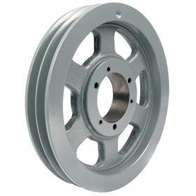 V-Belt Pulley: 5V Belt Section Size, 2 Grooves, For 5V & 5VX Section, Spoked, 16 in OD, 0.6 in Groove Dp, For SF