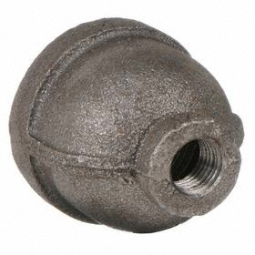 Anvil Threaded Black Reducing Coupling: Concentric Reducing Coupling, 150 Class, 1 Pipe Size (Port 1), 3/4 Pipe Size (Port 2)