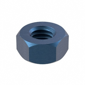 Hex Nut: Alloy Steel, Blue Phosphate, Class 10 Material Grade, M6 Thread Size, 1 mm Thread Pitch, 10 mm Wd, 100 PK