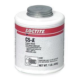 Loctite Conductive Anti-Seize Lubricant: Copper, 1 lb, Bottle with Brush Cap, -30° F Min Op Temp, 1800° F Max Op Temp