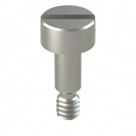 Precision Shoulder Screw: 18-8 Stainless Steel, Slotted, 1/8 in Shoulder Dia, 4-40 Thread Size, 5/32 in Thread Lg, 10 PK