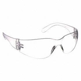 Safety Glasses: Frameless Frame, Clear, Anti-Fog, White, ANSI Z87.1-2010