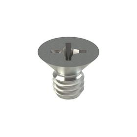 Machine Screw: NL-19(R), 304 Stainless Steel, Phillips, No. 8-32 Thread Size, Imperial, Flat Head, ANSI/ASME B18.6.3, 100 PK