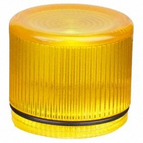 Eaton Push Button Cap: 30 mm Compatible Panel Cutout Dia, Plastic, 38.1 mm Overall Ht, Yellow, Illuminated, Screw On