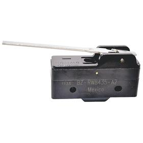 Honeywell Hinge Lever Snap-Action Switch: SPDT Pole-Throw Configuration, 15 A @ 250V AC Switch Rating, 0.2 oz Op Force