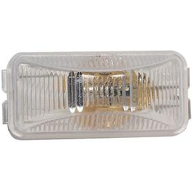 Truck-Lite Vehicle Marker Light: For Incandescent, 2 1/2 in Overall Lg, 1 1/4 in Overall Wd, Rectangle, 12 V DC Volt
