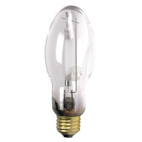 GE Elliptical HID Bulb: Metal Halide, Clear, BD17, E26, 100 W Watt, 9200 lm, 84 Color Rendering Index