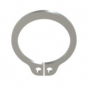 External Retaining Ring: Stainless Steel, Plain, SH-37 Ring, For 3/8 in Shaft Dia, For 0.352 in Groove Dia, 10 PK