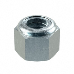 "Nylon Insert Locknut: Steel, Zinc Plated, 3/8""-16 Thread Size, 37/64 in Wd, 15/32 in Ht, 50 PK"