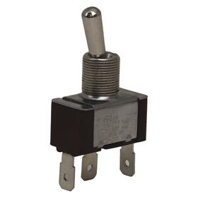 Eaton Toggle Switch: 2 Positions, 20 A @ 125V AC Switch Rating, 1 Poles, On-On, SPDT Pole-Throw Configuration, Maintained, Silver