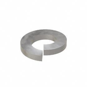 Split Lock Washer: Steel, Plain, For 5/16 in Screw Size, 0.322 in ID, 0.583 in OD, 0.078 in Thickness, 100 PK