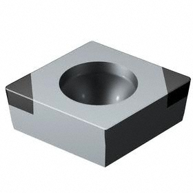 Sandvik Coromant Rhombic (C) 80° Turning Inserts: For Hardened Materials, CCGW Insert, 09 Seat Size, 7° Clearance Angle, 3/8 in Insert Size, 5 PK