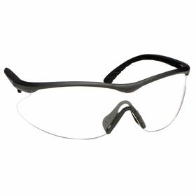 Edge Safety Glasses: Clear, Half Frame, Anti-Fog/Scratch Resistant, Black, ANSI Z87.1+2015/MCEPS GL-PD 10-12