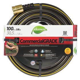 Garden Hose: Water Hose, 100 ft Overall Lg, Std, Cold Water For Water Temp, 5/8 in Hose ID, Reinforced, Kink Resistant
