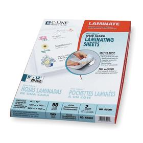Laminating Pouch: 12 in Laminating Sheet Lg, 9 in Laminating Sheet Wd, 2 mil Laminating Sheet Thickness, Gloss, 50 PK