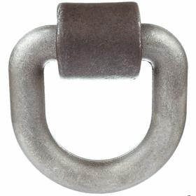 D-Ring Anchor: Plain, Steel, 15586 lb Max Load Capacity, 5 in Overall Wd, 5 in Overall Ht, Truck & Trailer, Gray, Flat