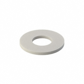 Narrow Flat Washer: Nylon, For No. 10 Screw Size, 0.195 in ID, 0.437 in OD, 0.031 in Thickness, 40 PK