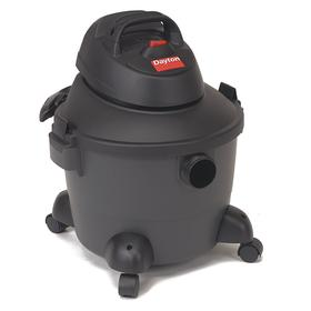 Vacuum Cleaner: Tank, Plastic, 1 1/4 in Suction Hose ID, Std, 2 1/4 gal Tank Wet Capacity, 4 1/4 gal Tank Dry Capacity