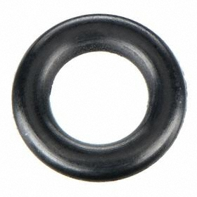 General Purpose Oil-Resistant Buna-N O-Ring: Round, Black, 2.4 mm Actual Wd, 2 2/5 mm Nominal Wd, 70 Shore A, 100 PK