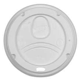 Disposable Lid: Dome Lid, Hot Cup Lid, For 20 fl oz Cup Capacity, Sip Through Opening, White, 1000 PK