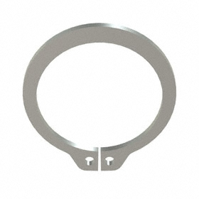 External Retaining Ring: Stainless Steel, Plain, SH-62 Ring, For 5/8 in Shaft Dia, For 0.588 in Groove Dia, 10 PK