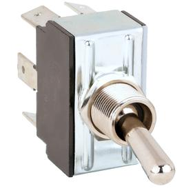 General Duty Toggle Switch: 3 Positions, 1/2 in Mounting Hole Dia, 20 A @ 250V AC Switch Rating (AC), 2 Poles, On-Off-On