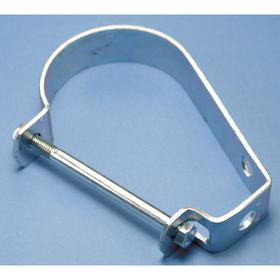 J Hanger: Loop Hanger, Steel, For 3/4 in Max Pipe OD, 400 lb Load Capacity, 3 15/16 in Overall Lg
